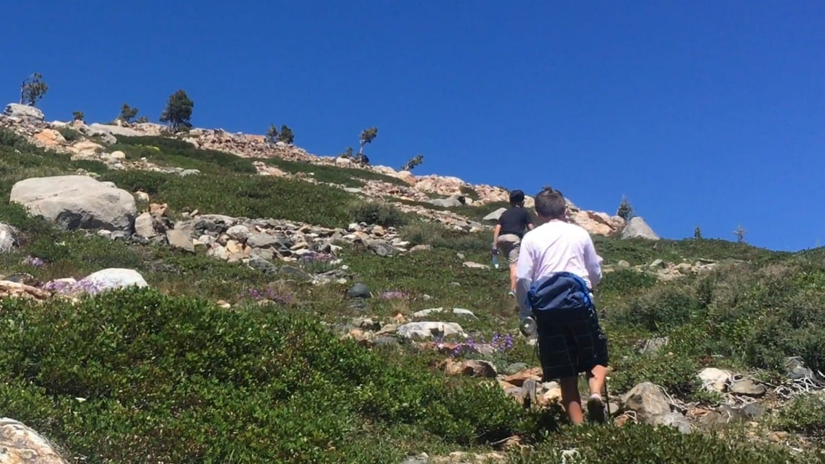 Backpacking-Tahoe-National-Forest-Lake-Penner-Climbing-The-Big-Hill