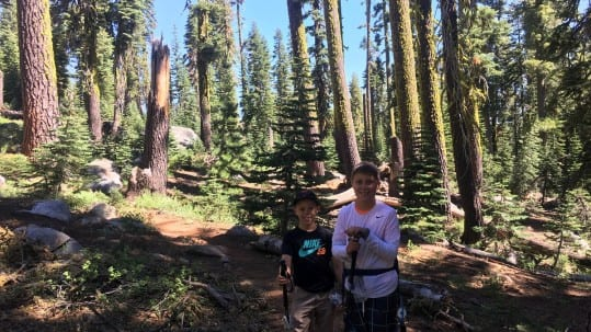 Backpacking-in-tahoe-national-forest-with-children