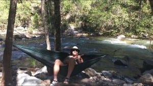 Feather Falls Fall River Hammock Singer May 2017 barebackpacking